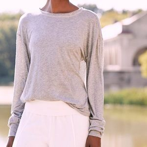 Free People Tops - Free People FP Movement Gray Pivot Point Tee - M